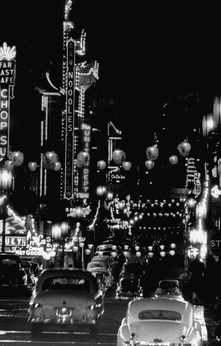 Black and white with lights. 1950's.