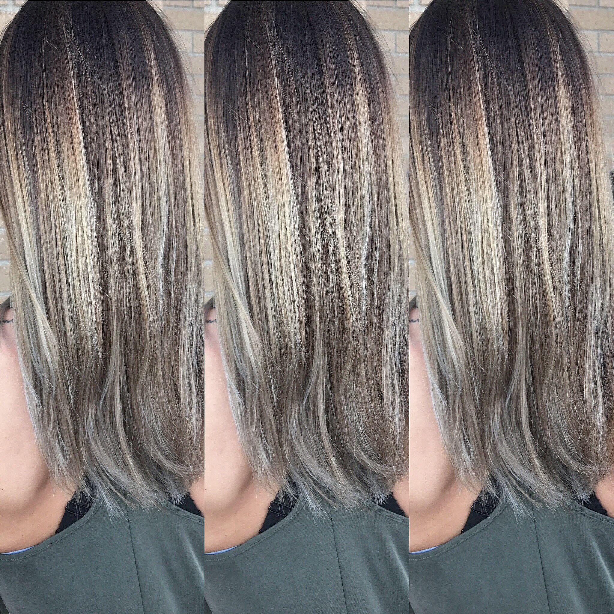 Brown to ash blonde balayage hair pinterest ash blonde