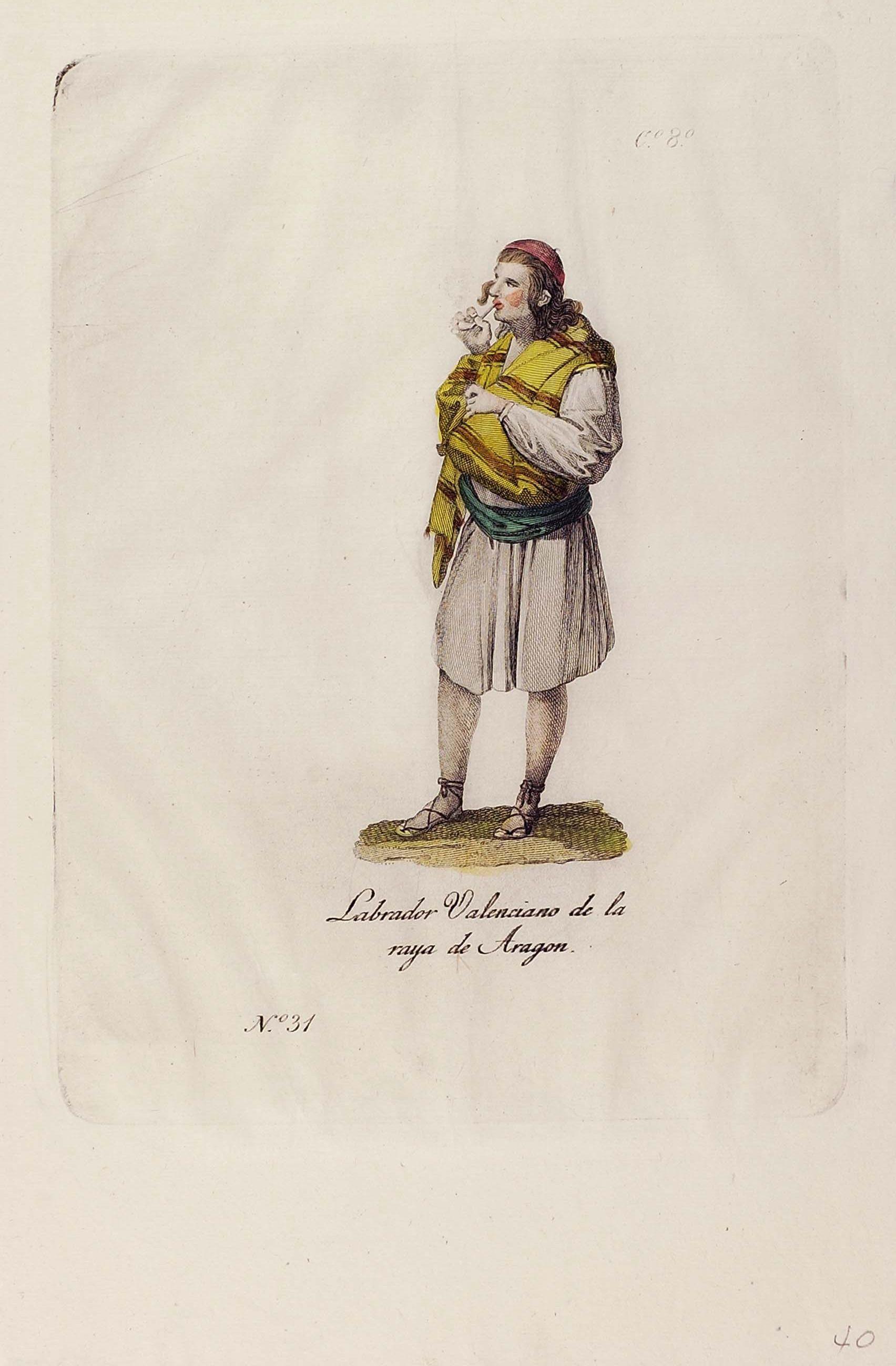 Labrador valenciano de la raya de Aragon Espa±a entre 1701y 1800