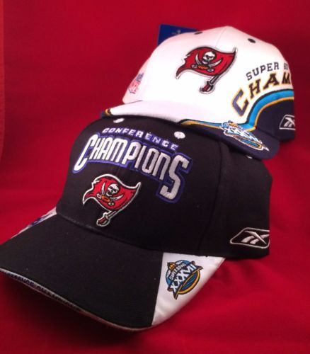 0f603b4497b0e TAMPA-BAY-BUCCANEERS-SUPER-BOWL-XXXVII-and-CONFERENCE-CHAMPIONS-BALL-CAPS- HATS