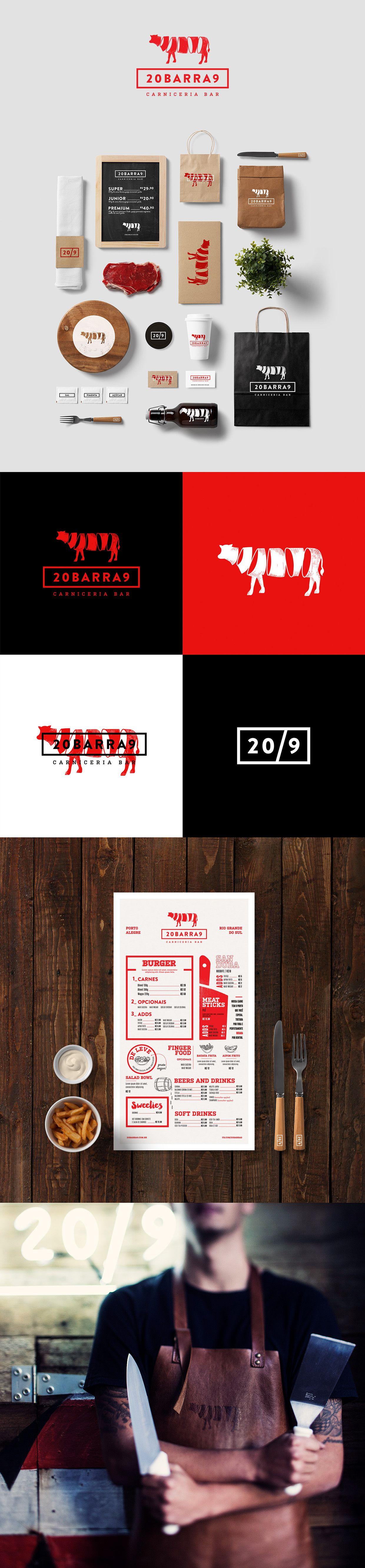 20barra9 On Behance Graphic Design Branding Logo Restaurant Brand Identity Design