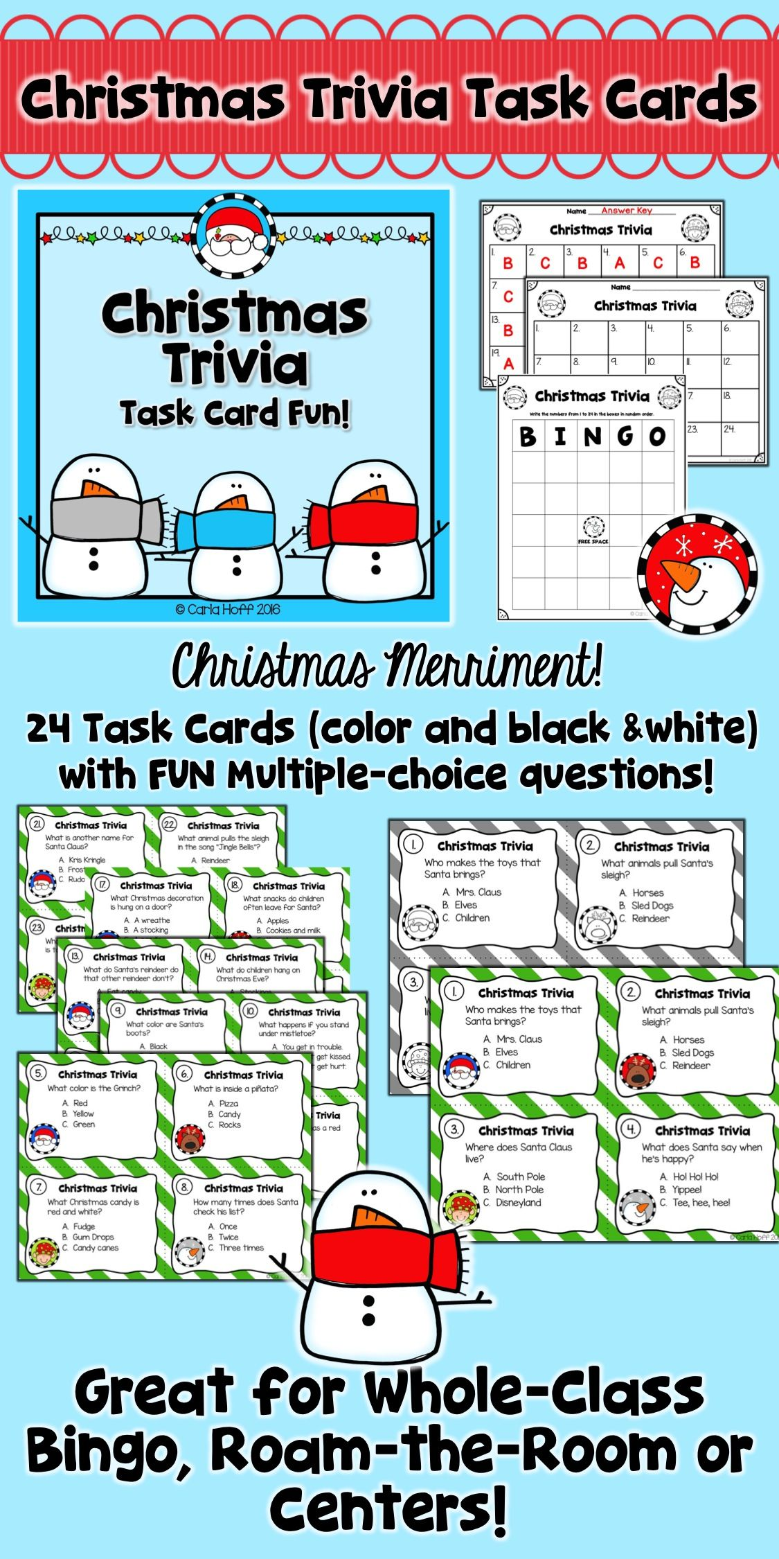 Christmas Trivia Task Card Fun
