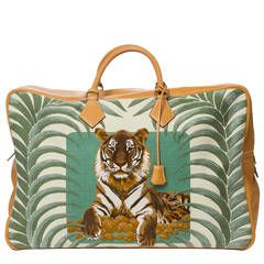 Hermès Plume Tigre Royal Beige Canvas