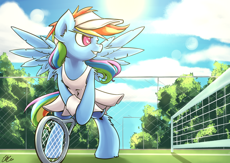 Rainbow Dash is Best Tennis Pony