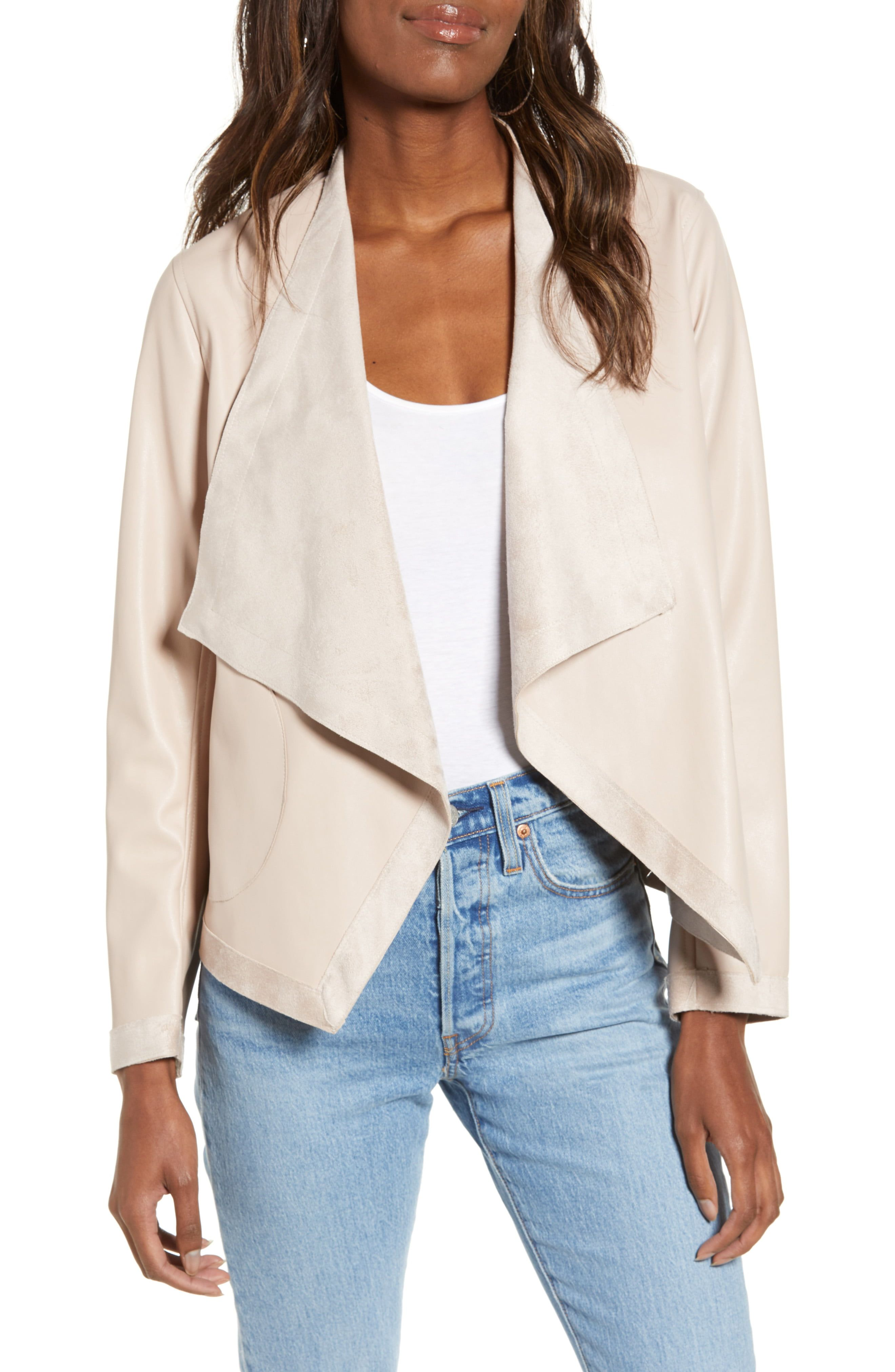 BB Dakota Womens Teagan Reversible Drape Front Jacket