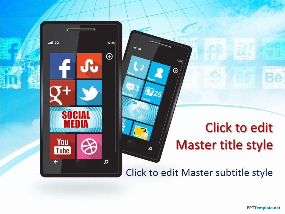 free social media windows phone ppt template social media ppt