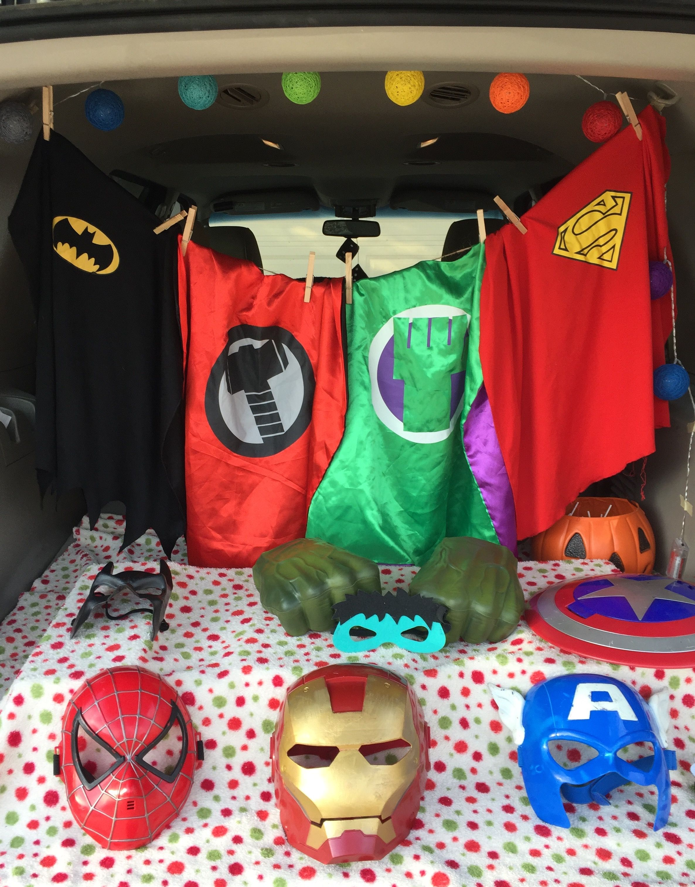 Superhero trunk or treat #trunkortreatideasforcarsforchurch
