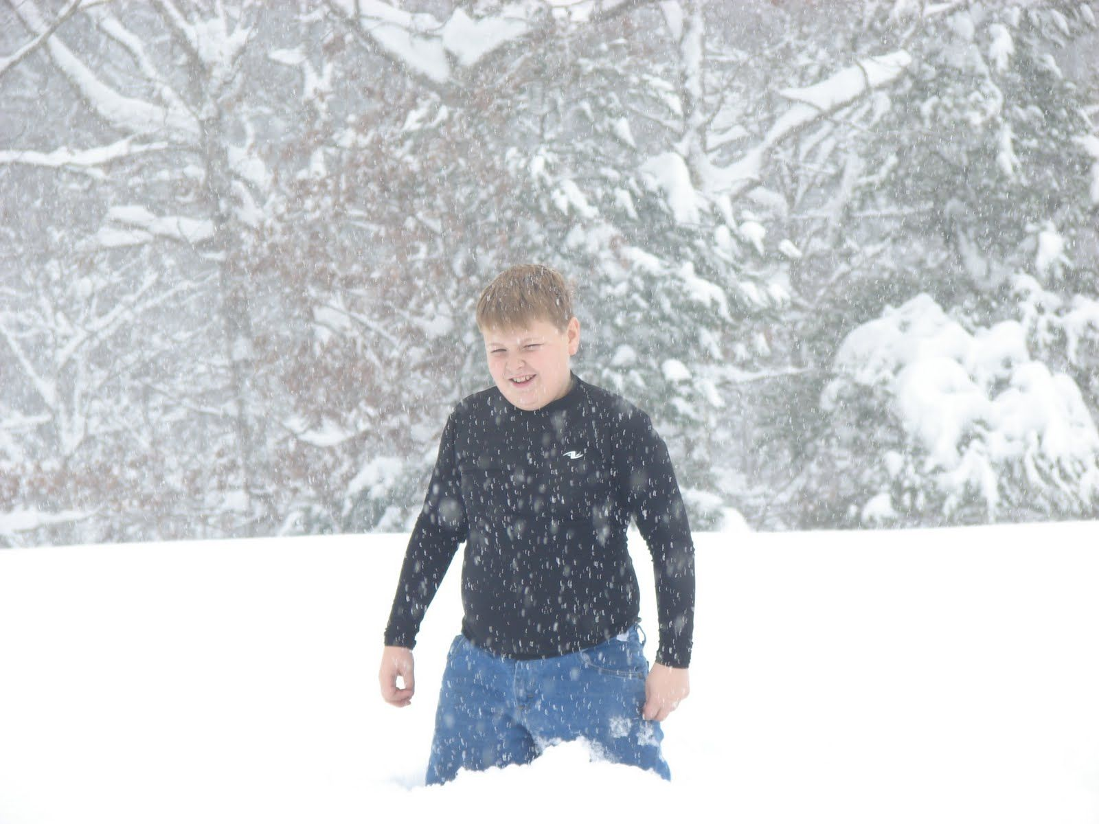 Snow up to the hips