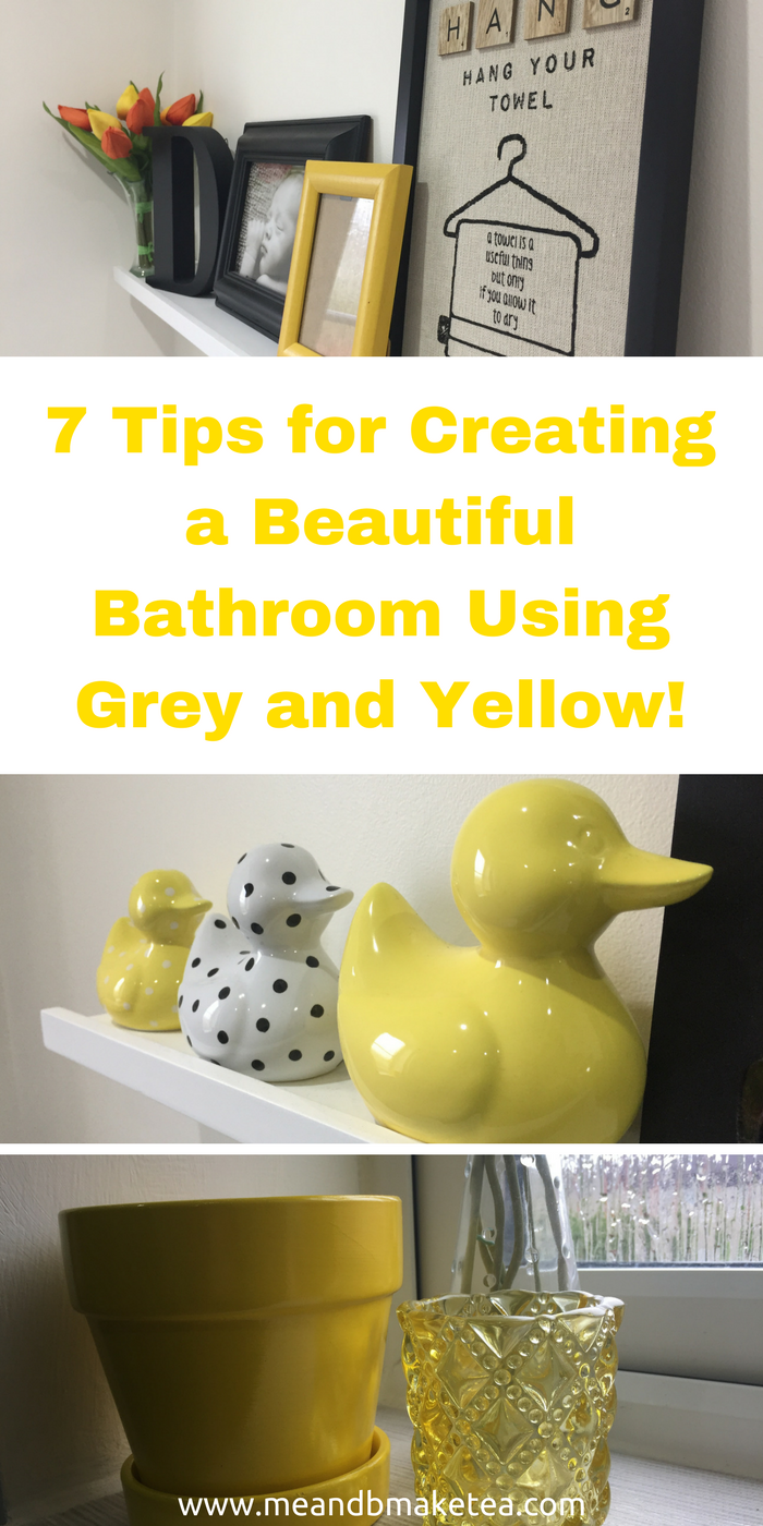 yellow bathroom accessories. 7 Tips for Creating a Beautiful Bathroom Using Grey and Yellow  my favourite colour scheme