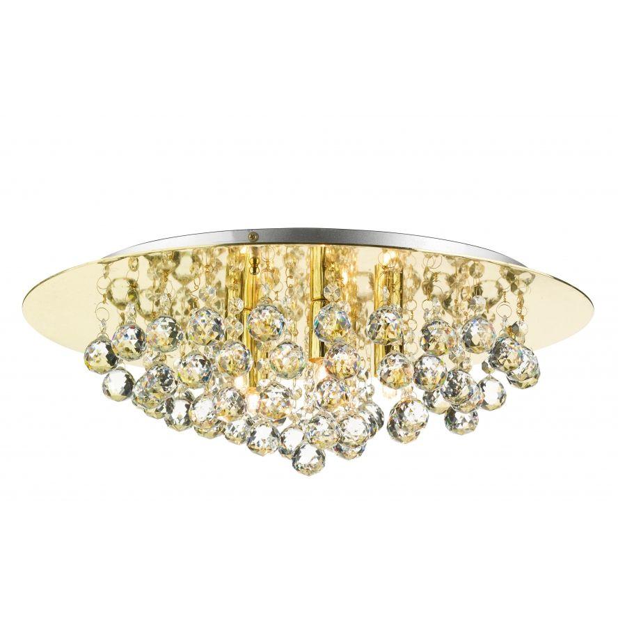 lamps, ceiling lights   Flush Light Fittings › Dar Pluto PLU5440 5 Light Flush Ceiling Light ...