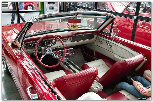 1965 Mustang 289 Convertible Red White Interior 1965 Mustang Mustang Interior Mustang Convertible