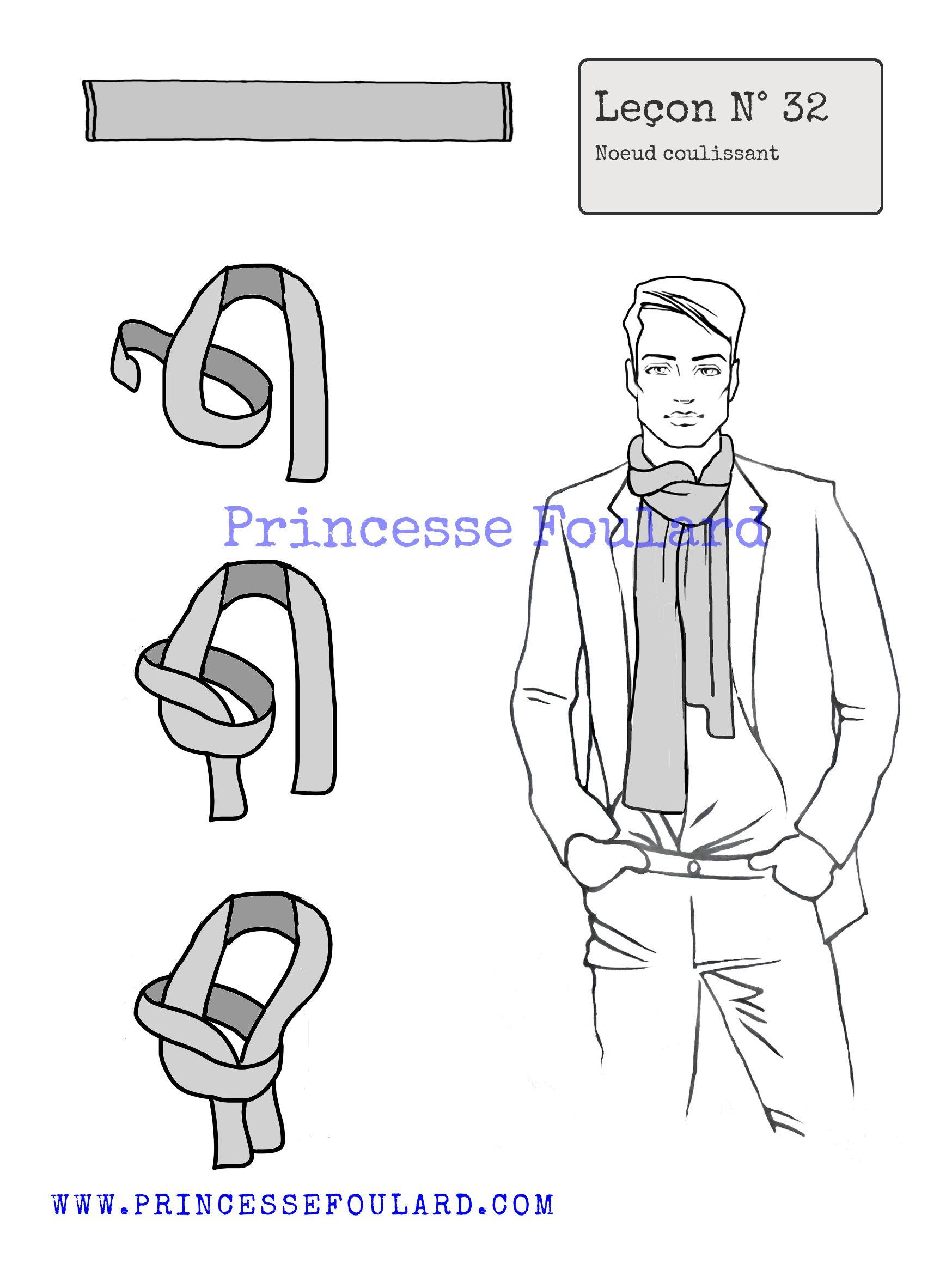 daf4bf909507 Tuto et modèles de noeud de foulard - Cartes à nouer gratuite à ...