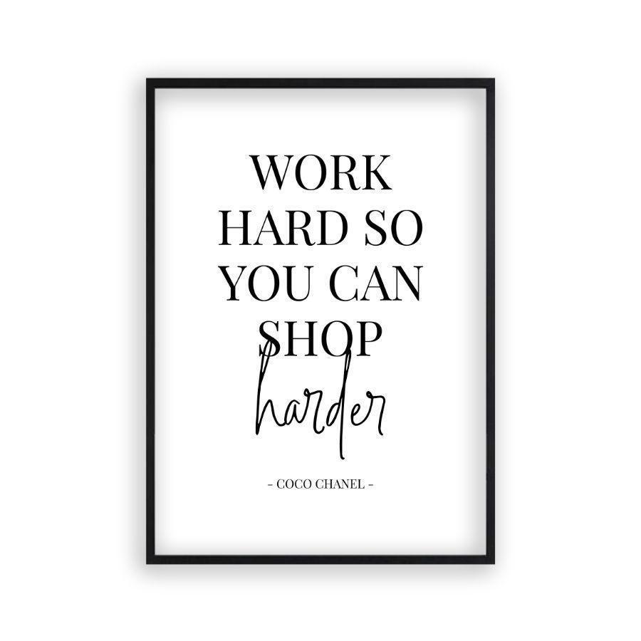 Photo of Arbeiten Sie hart, damit Sie härterer Druck kaufen können – Mattschwarzer Rahmen / 12 x 16