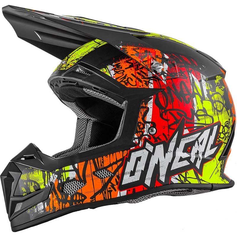 4a0cdb6ff803f Oneal 2018 5 Series Vandal Orange Neon Helmet