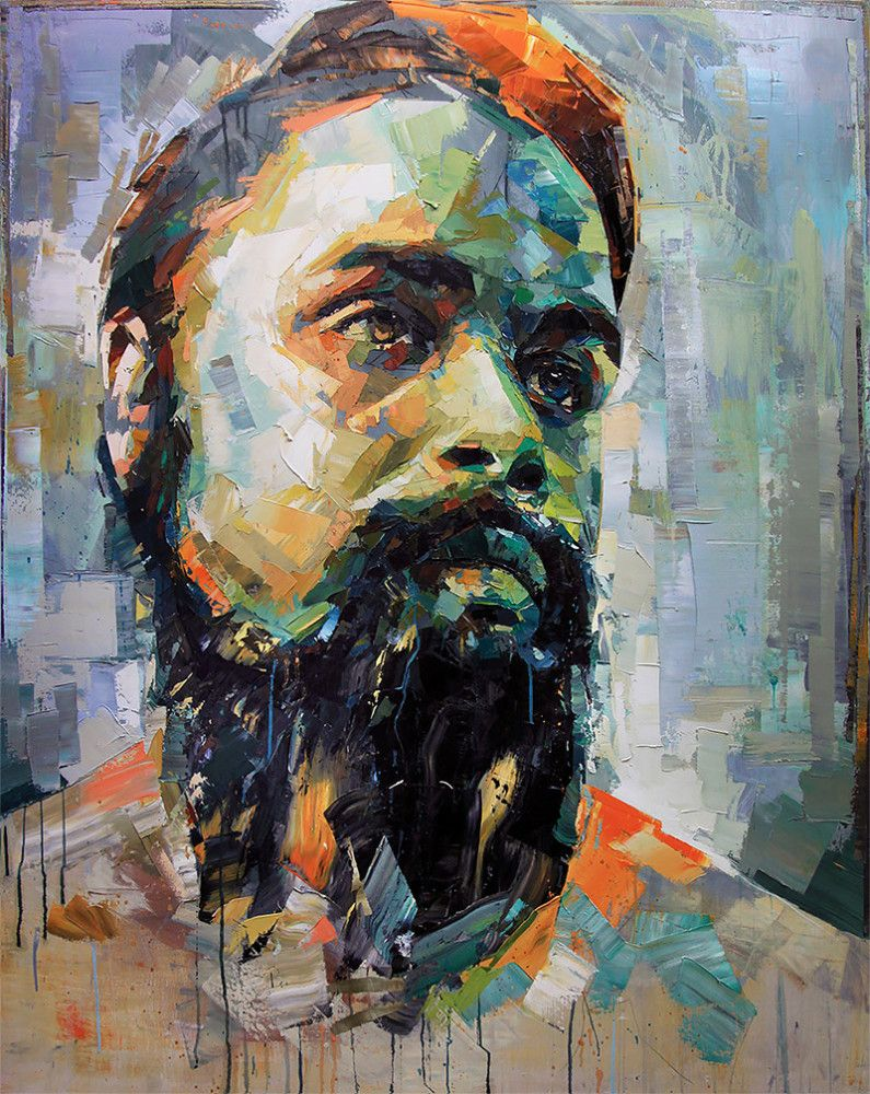 Paintings by joshua miels contemporary portrait artists for Buy mural paintings