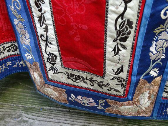 Antique Chinese Wedding Skirt Handmade by ElegantArtifacts on Etsy, $650.00