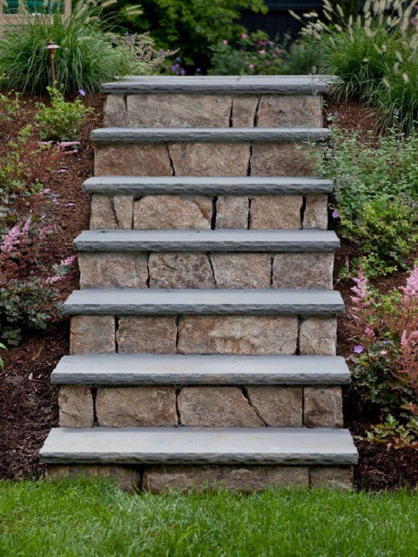 Gartentreppe aus steinen selber bauen garten pinterest - Gartentreppe bauen ...
