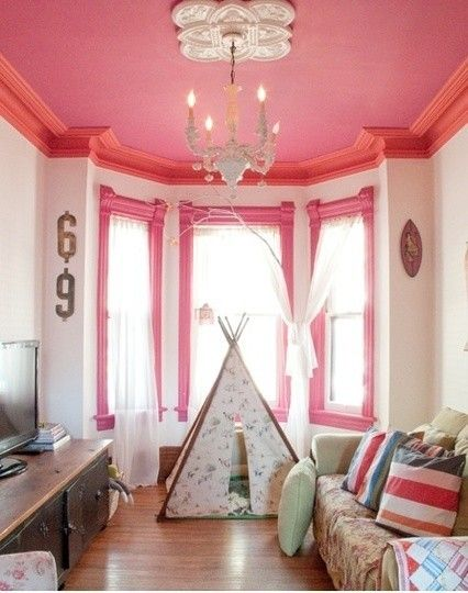 10 Pretty Pink Rooms for Valentine\'s Day | Moldings, Ceiling and ...