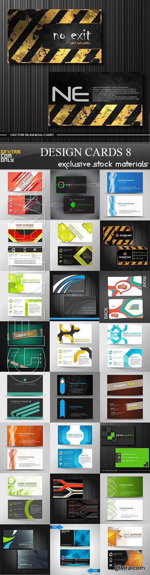تصميمات مفتوحة المصدر لكروت شخصية فيكتور Design Cards Collection 7 Design Graphic