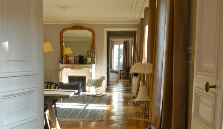 Projet de d coration et d am nagement du salon d un appartement haussmannien paris par un - Salon amenagement interieur ...
