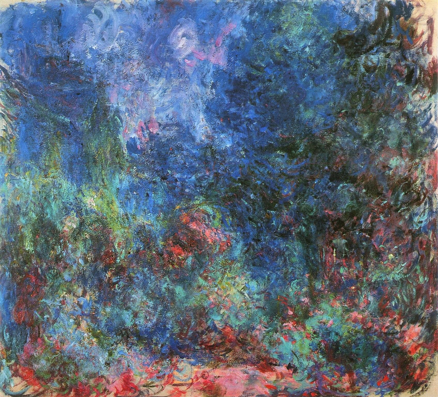 "VERY RARE PAINTING BY CLAUDE MONET ‪#‎Impressionism‬ ‪#‎Art‬ ‪#‎Color‬ ""View of the Rose Garden"" painted in 1924 just two years before he passed."