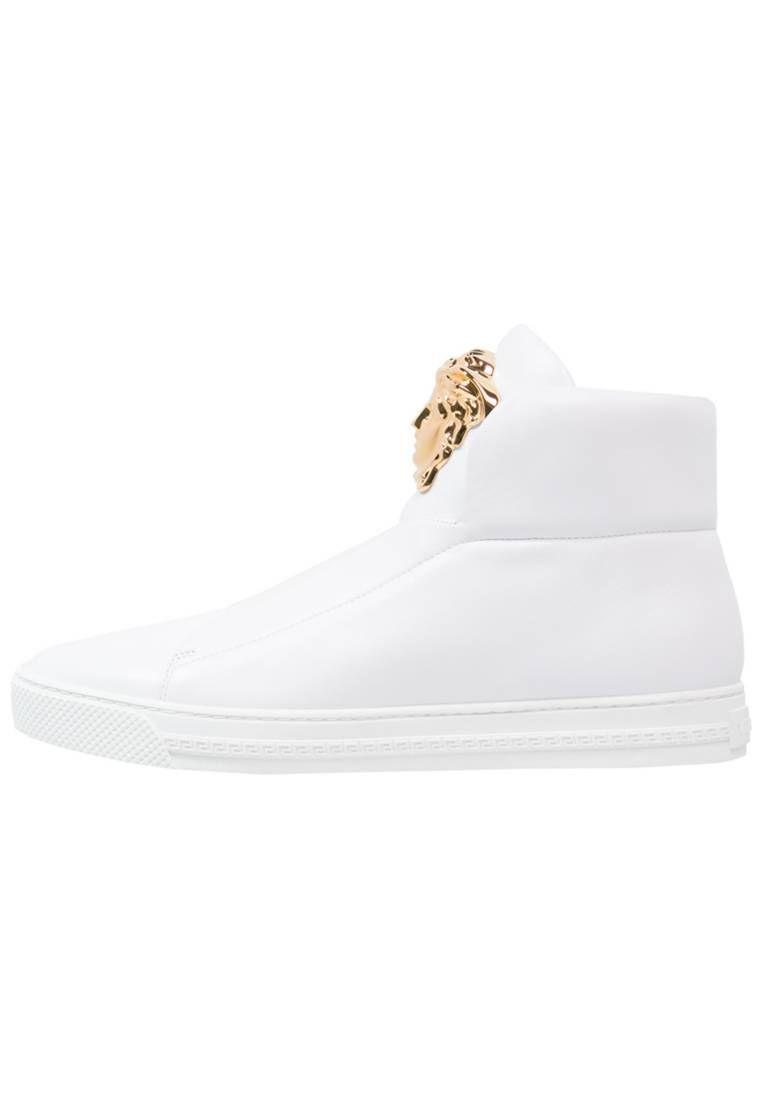 Versace. Sneakers alte - bianco. Fodera