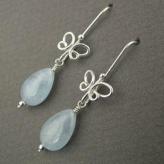 YOJ11-06 Butterfly Drop Earrings