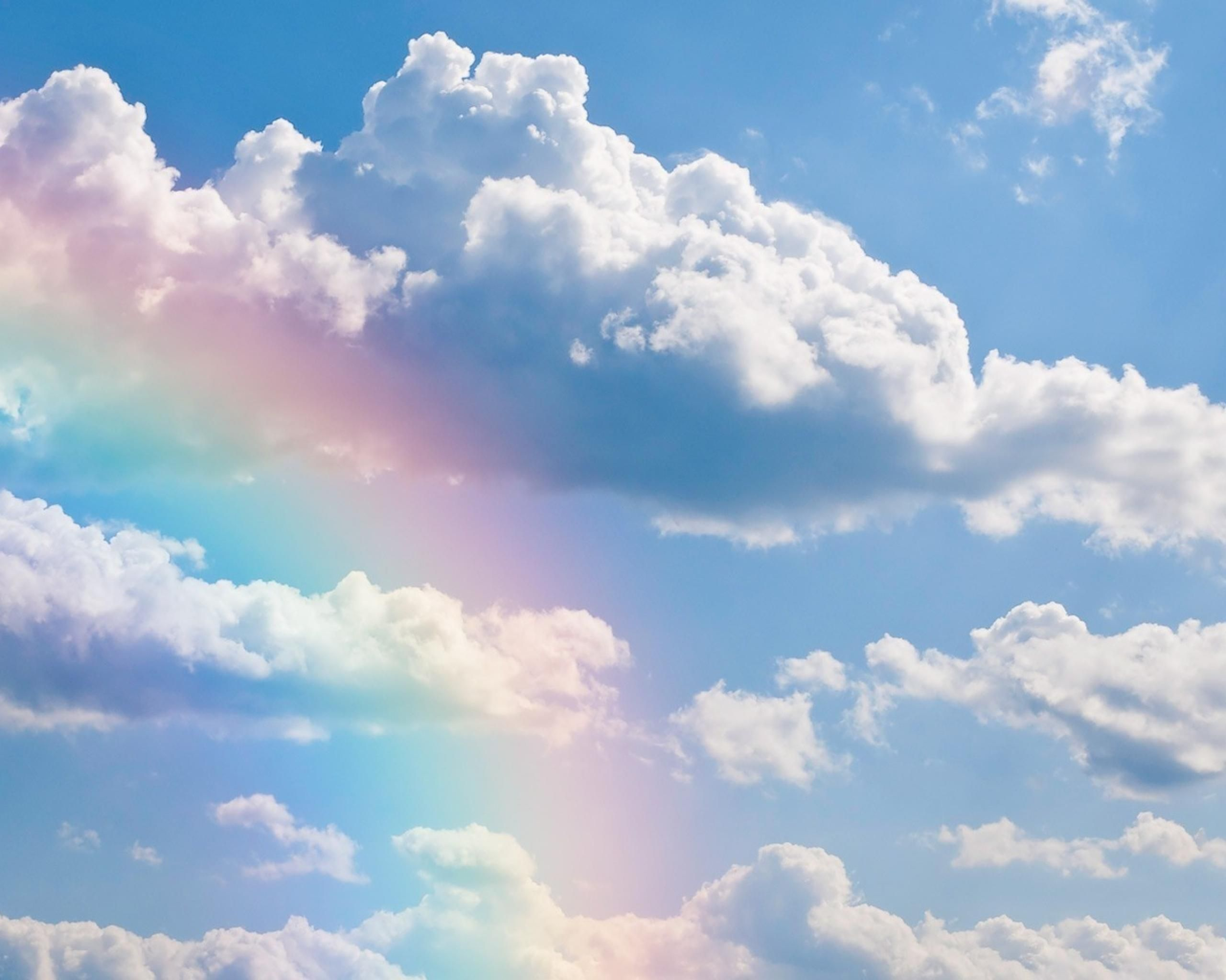 Rainbows Clouds Sky Rainbow Nature Free Hd