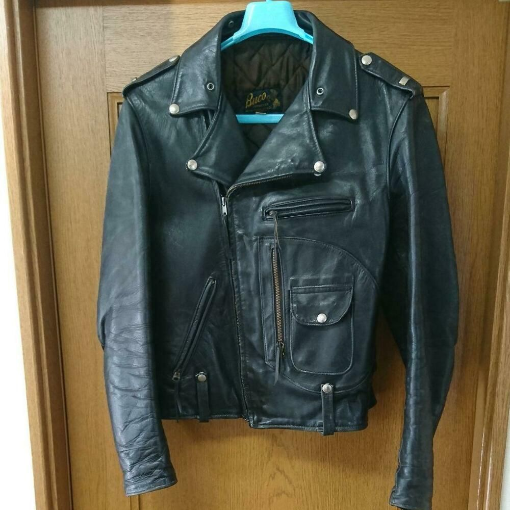Buco J 24 Double Riders Jacket Horsehide 50 S Vintage Size 40 Black Buco Jacket Leather Jacket Riders Jacket Jackets [ 1000 x 1000 Pixel ]