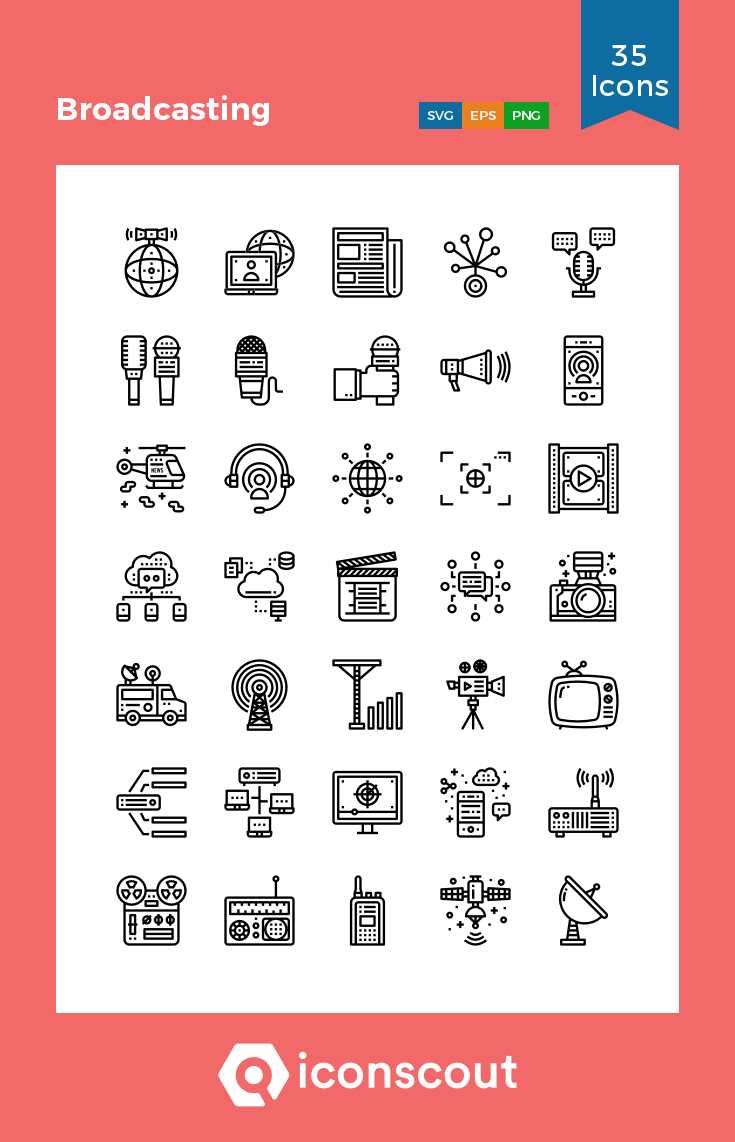 Download Broadcasting Icon Pack Available In Svg Png Eps Ai Icon Fonts Communication Icon Icon Art Icon