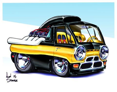 2016 Cartoon Hot Rod With Images Truck Art Car