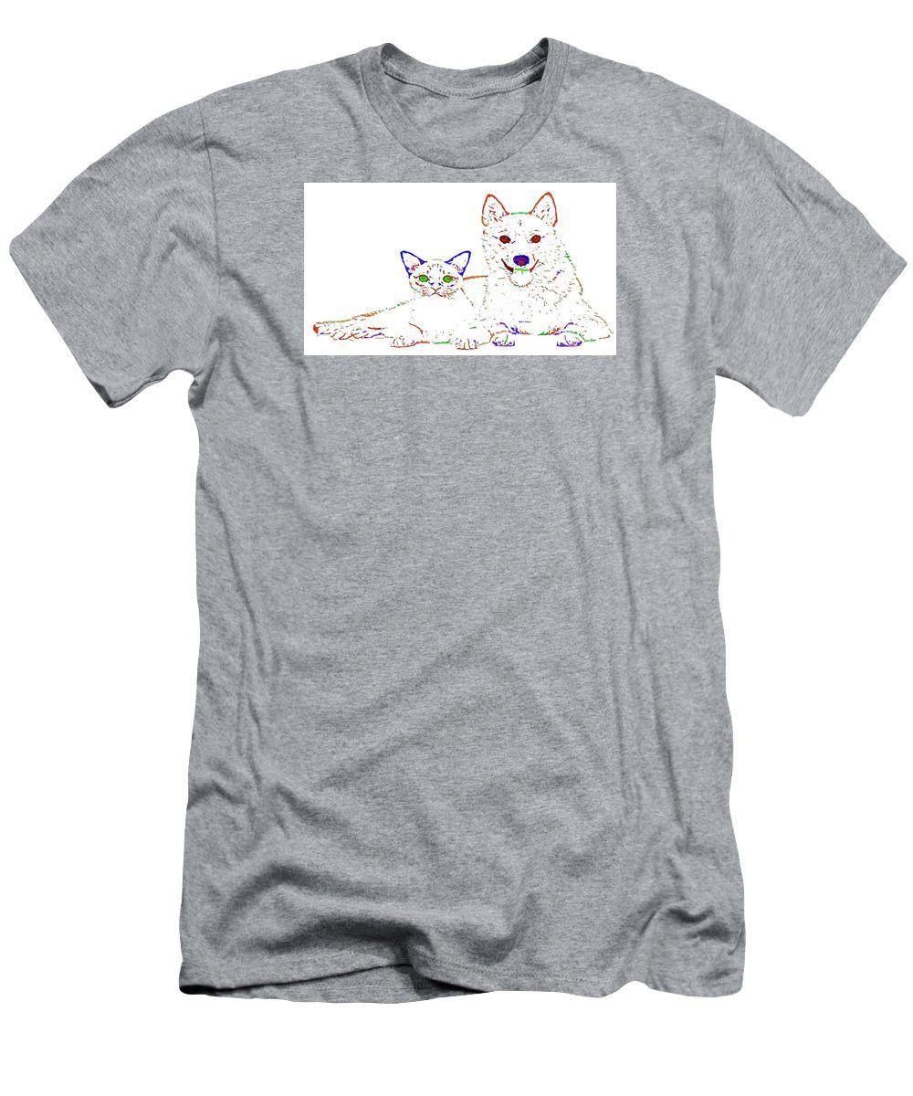 Men's T-Shirt (Slim Fit) - Love Me. Pet Series