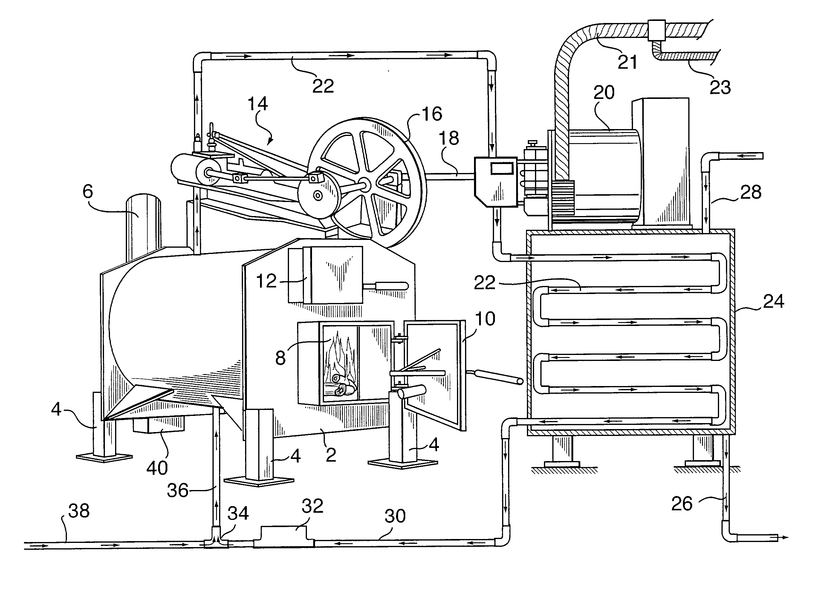 Wood Burning Steam Powered Generator