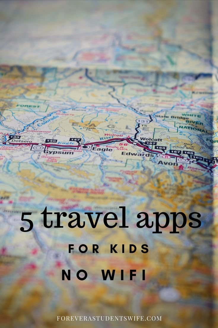 5 Great no wifi travel apps for kids Travel app, Kids