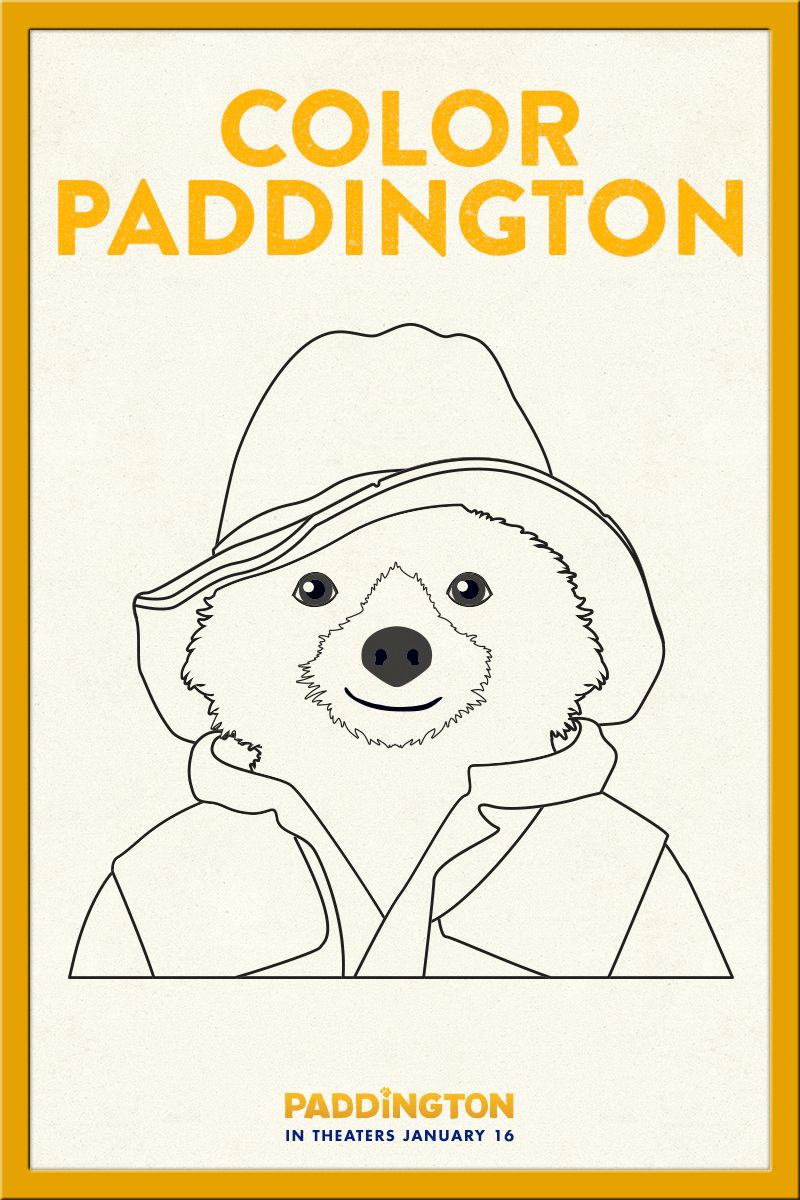 Coloring in Paddington Download