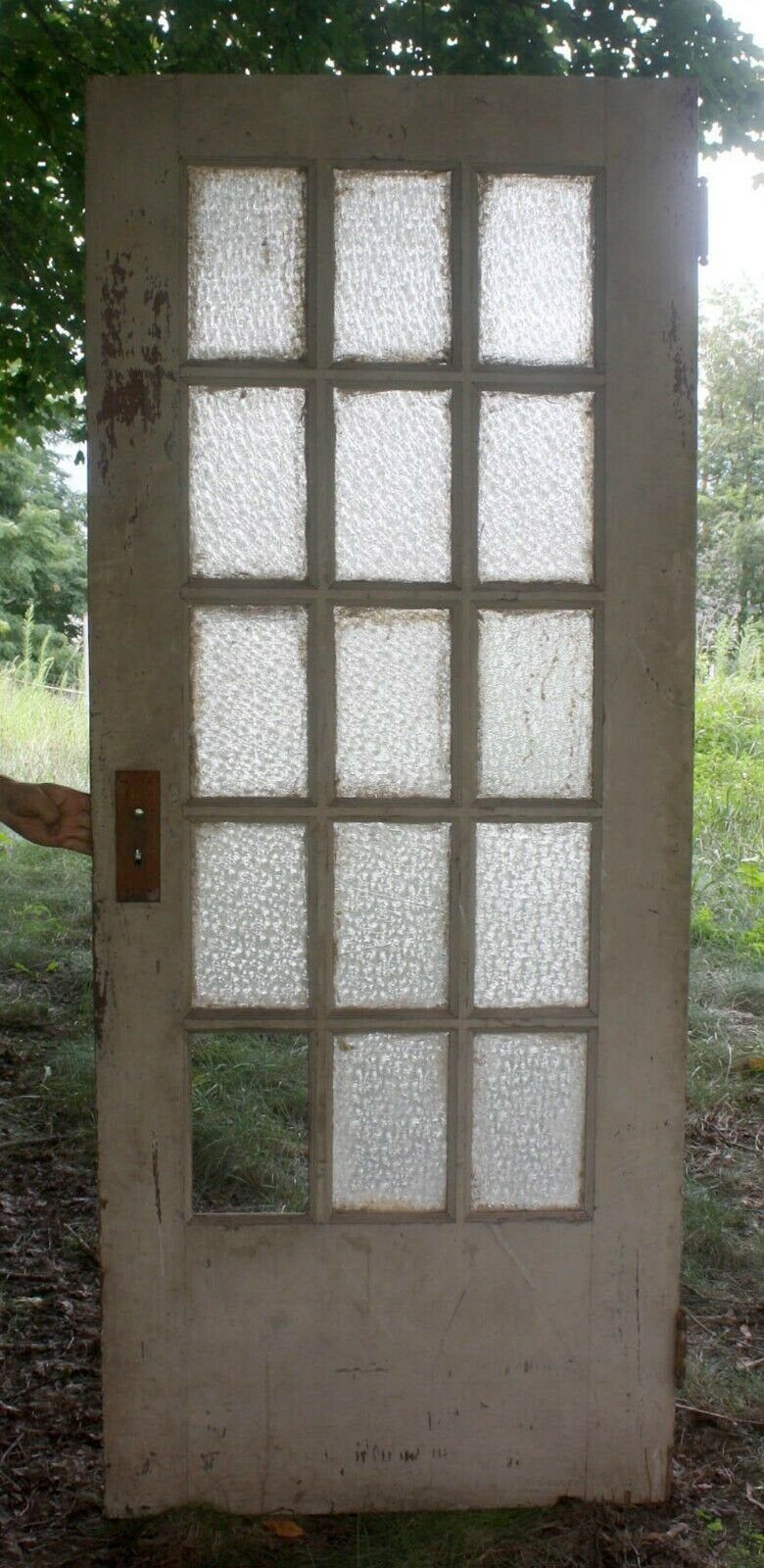 32x78 Antique Vintage Wood Exterior Entry French Door Window