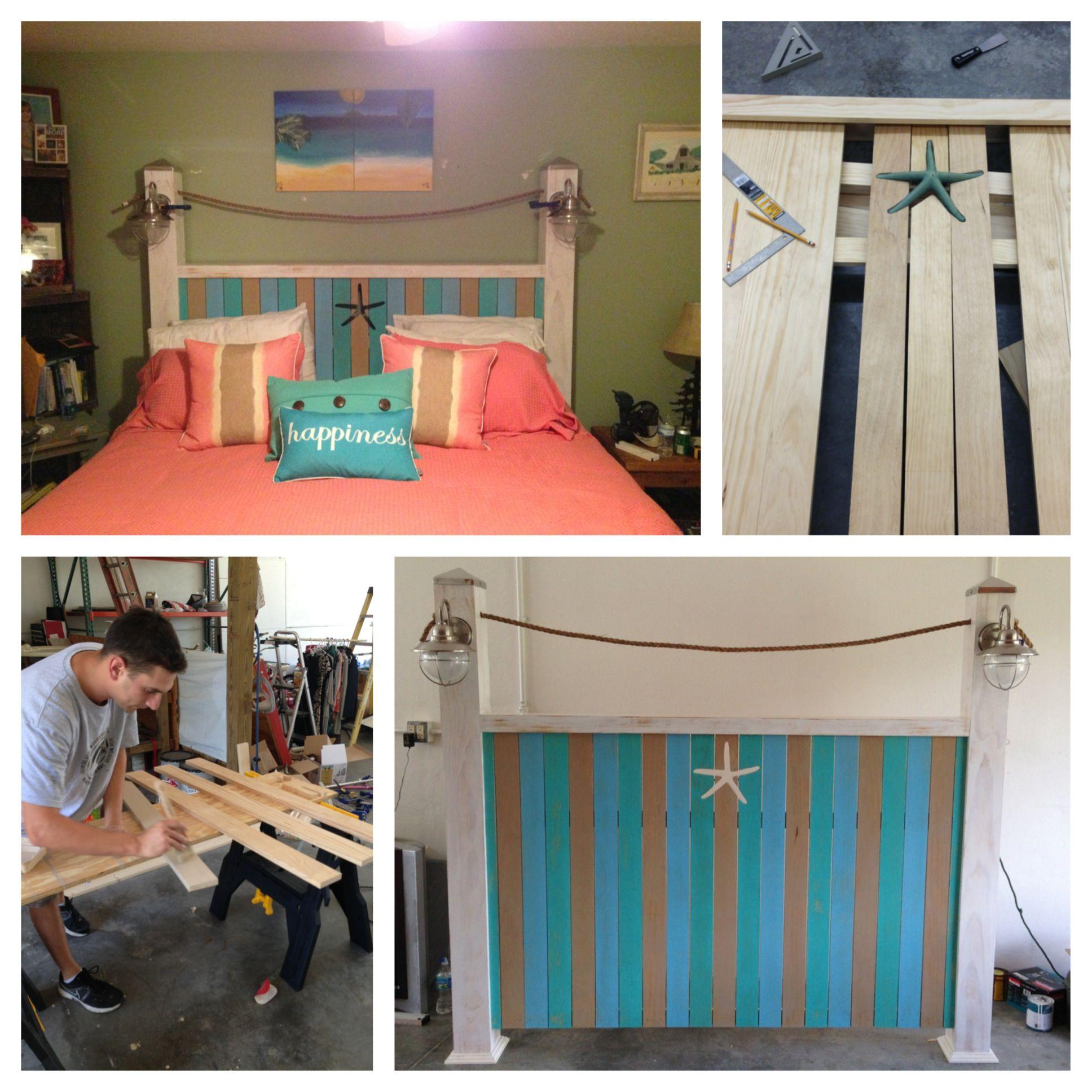 Beach themed headboard beach theme house pinterest for Beach house headboard ideas