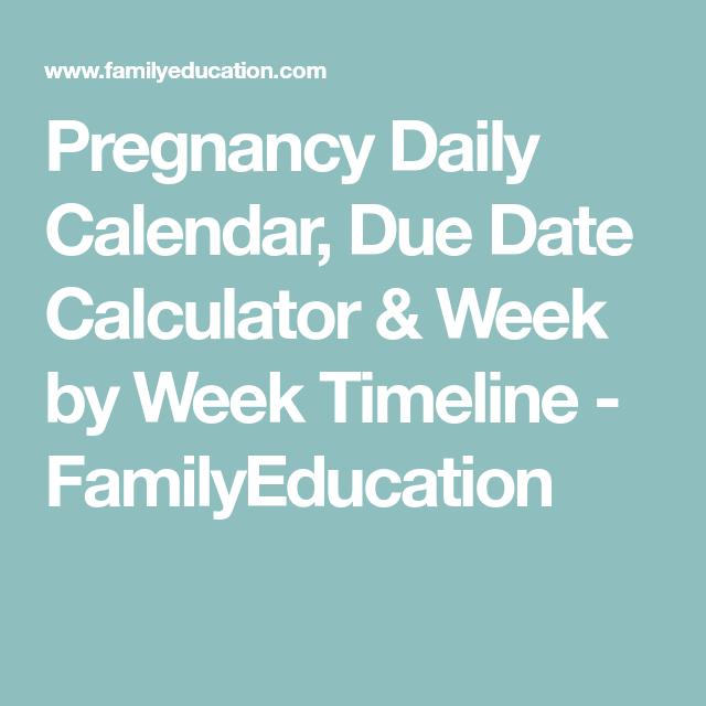 pregnancy daily calendar