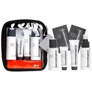 Dermalogica Dry Skin Kit by Dermalogica. $34.95. Fragrance free. A great starter or travel kit for dry skin. Kit includes: Multi-active Toner (2 fl oz), Essential Cleansing Solution (2 fl oz), Intensive Moisture Balance (.75 fl oz), Gentle Cream Exfoliant (.30 fl oz), Soothing Eye Make-up Remover (sample packet), and Intensive Moisture Masque (sample packet).