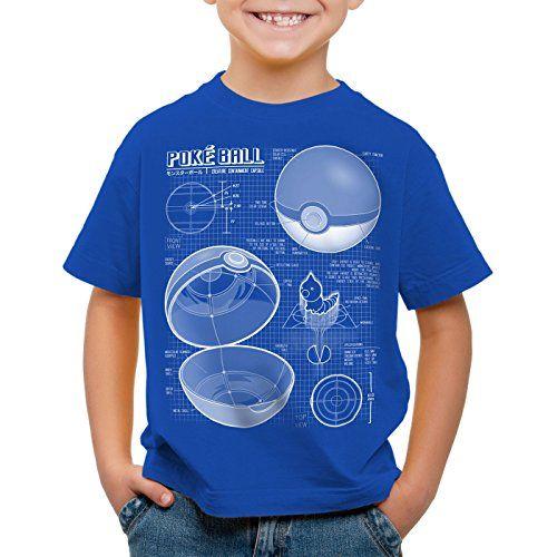 A.N.T. Poké Ball Cianotipo Camiseta para Niños T-Shirt monstruos videojuego #camiseta #starwars #marvel #gift
