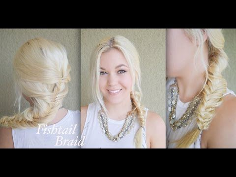 Back to School | Fishtail Braid | Great for Dirty Hair - YouTube
