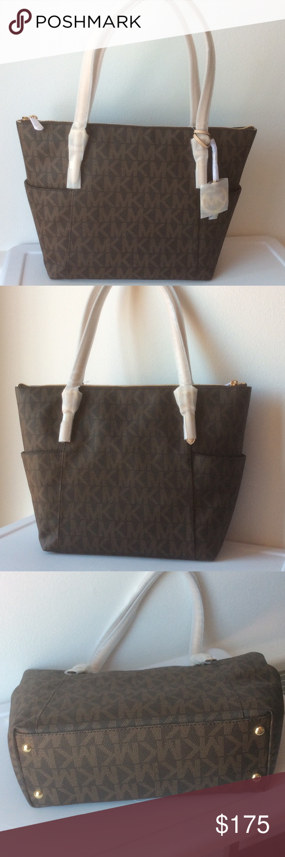 🆕Michael Kors Jet Set EW TZ Tote Always chic and always in style ... 8d9b78088c
