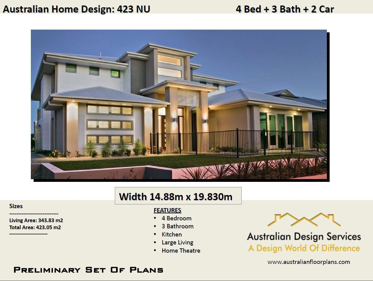 423 M2 4 Bed Study Reading Room 2 Storey Plans Two Etsy Two Storey House Lake House Plans Simple House Plans