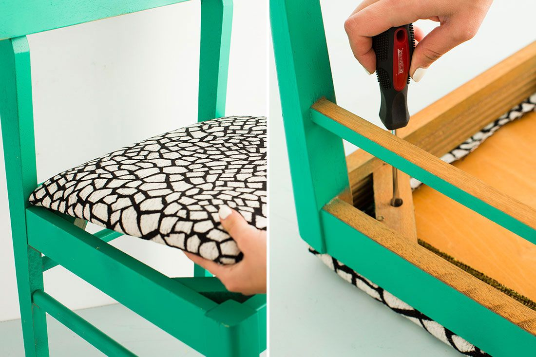Here's how to reupholster a thrift store chair.
