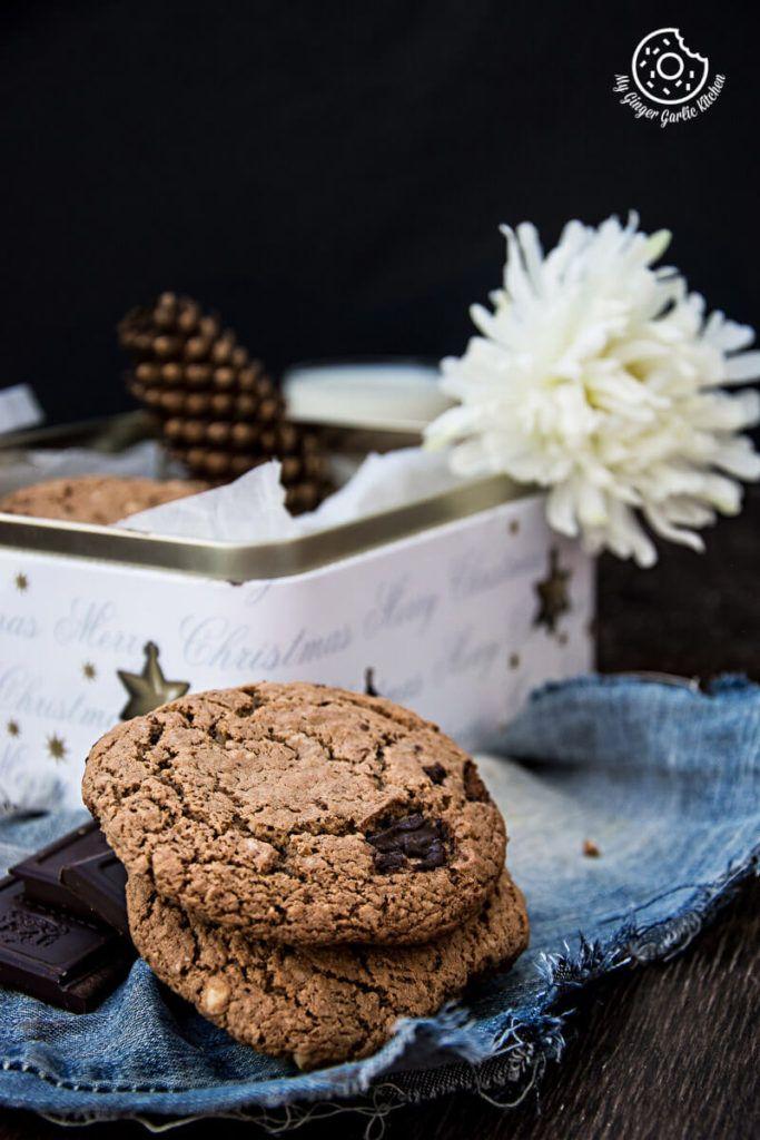 Haferflocken Erdnussbutter-Schokoladen-Plätzchen |  mygingergarlickitchen.com/ @anupama_dreams