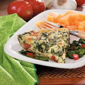 Blue Cheese and Spinach Frittata... easy and loaded with goodness!