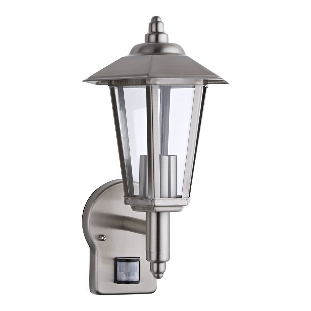 Biard Cannes Stainless Steel Outdoor Wall Lantern With Pir Motion Sensor Outdoor Light Fixtures Outdoor Wall Lantern White Light Fixture