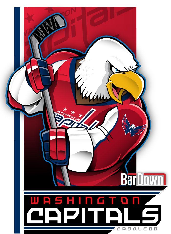 920c74917de Fabulously wicked eagle mascot for the Washington Capitals