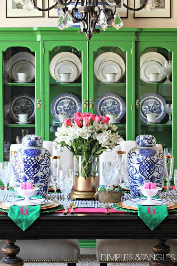 HOW TO SET A PRETTY TABLE- SPRING/EASTER TABLESCAPE | Easter table ...