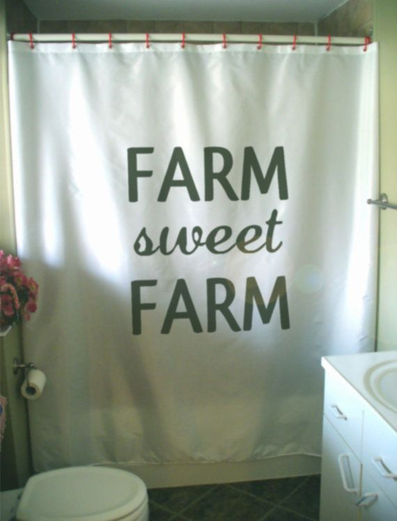 Farm Sweet Farm Shower Curtain Rural Dream Ideal Farming Utopia